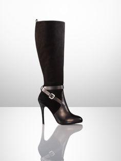 Ralph Lauren's Cosima Suede-Calfskin Boot