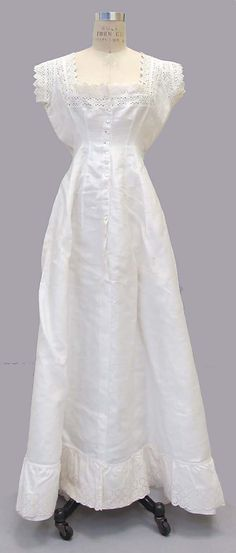 Dress (Underdress)  Date: fourth quarter 19th century Culture: American or European Medium: cotton