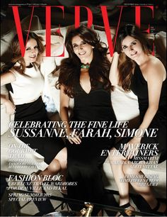 CURATORS OF STYLE, Sussanne Khan along with sisters Farah Khan Ali Farah Khan Ali and Simone Khan, featured on the cover of Verve magazine for their December issue. Images Shot at The Charcoal Project