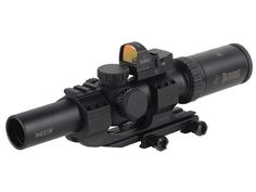 Product detail of Burris MTAC Rifle Scope 30mm Tube 1-4x 24mm Illuminated Ballistic CQ Reticle with Fastfire III Red Dot and P.E.P.R. Mount Matte