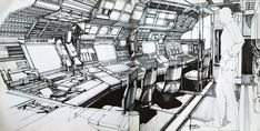 Syd Mead 2010: Odyssey Two Concept Art - Rocketumblr