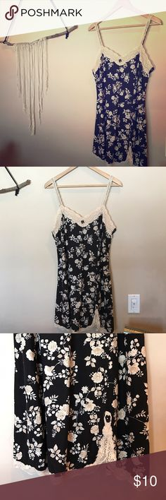 Sexy black kimono pattern nightie Perfect condition! Super soft !                              • • • 30% off of bundles of 3+, free gifts (vintage, new, or handcrafted) with every purchase, and negotiable prices on every sale. • • • Intimates & Sleepwear Pajamas