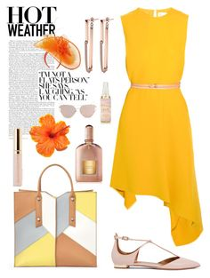 """""""Hot weather: Smart outfit"""" by chalsouv ❤ liked on Polyvore featuring Aquazzura, Victoria Beckham, Botkier and Tom Ford"""