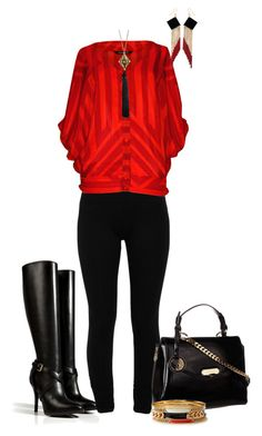 """""""Firebomb"""" by sweetnuff ❤ liked on Polyvore featuring Ralph Lauren Collection, LnA, KAS New York, Versace, Forever 21, Trina Turk LA and Zelia Horsley"""
