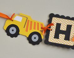 Construction Party Banner, Construction Birthday Banner