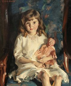 Louis Betts (American 1873-1961) Portrait of Gertrude, 1926.  http://underpaintings1.rssing.com/