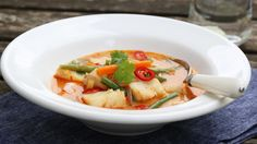 Thaisuppe med torsk og reker à la Trinesmatblogg.no