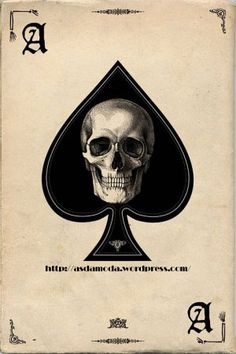 Ace of Spades Skull Art Poster Print - dark goth style with banner text at the bottom, could push this layout farther and make it more interesting Totenkopf Tattoos, Maori Tattoos, Ace Of Spades, Poster Prints, Art Prints, Art Et Illustration, Halloween Illustration, Grim Reaper, Skull And Bones