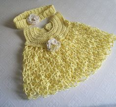 crochet dress Crochet Baby Clothes, Baby Dresses, Baby Things, Baby Showers, Crocheting, Accessories, Summer, Fashion, Zapatos