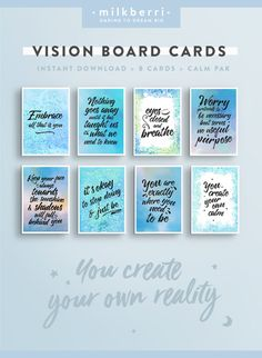 PLEASE NOTE: this is a digital product, no physical product will be shipped Inspire your dreams and bring your vision board to life with these beautiful, eye catching designs. You have the power to focus on the things you truly want to bring into your li Creating A Vision Board, Visualisation, Setting Goals, Goal Settings, Wall Art Quotes, How To Stay Motivated, Quote Prints, Law Of Attraction, Affirmations