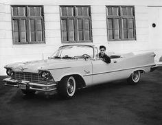 Elvis in his car