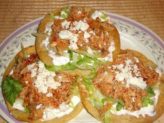 Receta de tinga de pollo - Comida mexicana. I made this before! So good!
