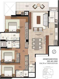 House Layout Plans, Dream House Plans, Modern House Plans, Small House Plans, House Floor Plans, Layouts Casa, House Layouts, Home Building Design, Building A House