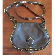 "Rebecca Minkoff Leather Crossbody  Saddle style Gorgeous! EUC. Gold hardware details! 8""H, 10.5""L. 22"" Strap Drop. THC516 Rebecca Minkoff Bags Crossbody Bags"