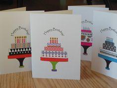 Set of 4 Birthday Cards 4th Birthday, Birthday Wishes, Birthday Cards, Happy Birthday Greeting Card, Gifts, Design, Bday Cards, Special Birthday Wishes, Presents