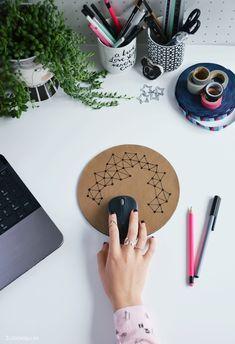 upcycling DIY | leder mousepad einfach selbermachen | easy handmade leather mousepad | ©luziapimpinella.com