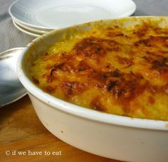 The act of baking potatoes with cheese is actually a more varied topic than you might think. The humble potato bake is also known as scalloped potatoes, potato gratin, gratin Dauphinoise, gratin Sa… Vegetable Dishes, Vegetable Recipes, Baked Potato With Cheese, Humble Potato, Dessert For Dinner, Healthy Eating Recipes, Savoury Dishes, Unique Recipes, Desert Recipes