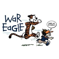 Calvin and Hobbes as Aubie and Gus