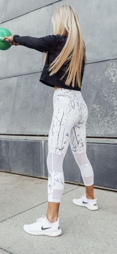 819a0fcd0dbc Super cute and trendy workout clothes! These marble leggings look  fashionable and comfortable.the perfect mix!