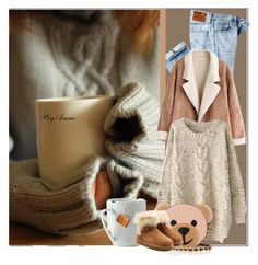 """""""Lazy day"""" by anne-977 ❤ liked on Polyvore featuring AG Adriano Goldschmied, Moschino and UGG"""