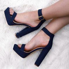 Ankle Strap Open Toe Chunky Heels