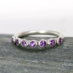 Seven Stone Stacking Ring by Scarlett Jewelry