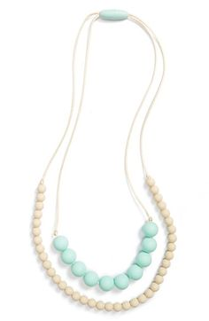 MAMA & LITTLE 'Deila' Multistrand Silicone Teething Necklace available at #Nordstrom