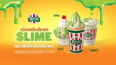 📢 PSA (Public Slime Announcement:)📢 Ooey gooey green goodness is here!Warmer weather is the perfect SLIME for a Gelati! Get your own slime topping right now at Rita's Italian Ice & Frozen Custard 💚It's time to enjoy Nickelodeon Slime Gelati, Concrete and Sundae's with your favorite treat at Rita's! 💚Is it your time for SLIME? Rita's is giving away nine Nickelodeon Slime Boxes! It's a party in a box for the whole family.  Enter by May 23 for a chance to win one and get your SLIME ON!