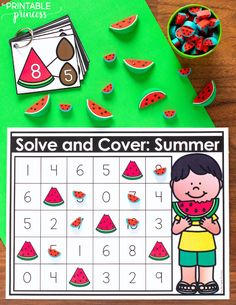Hands-On Summer Activities for KindergartenNeed some ideas for end of the year summer activities that will keep your students on task and engaged? In this post you& find tons of engaging,. Summer Activities For Toddlers, Free Activities, Hands On Activities, Toddler Activities, Kindergarten Classroom, Kindergarten Activities, Physics Classroom, Teaching Math, Teaching Tips