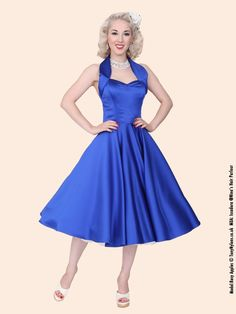 1950s Halterneck Royal Duchess Dress