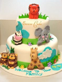 Google Image Result for http://www.erivanacakes.com/photos/Kids-Birthday-Cakes/Jungle%2520theme%2520baby%2520shower%2520cake.jpg