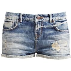 Denim shorts (38 CAD) ❤ liked on Polyvore featuring shorts, bottoms, pants, short jean shorts, jean shorts, denim short shorts and denim shorts