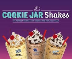 Sonic Introduces New Cookie Jar Shakes - Snack Gator Choco Chocolate, Chocolate Shake, Chocolate Flavors, Nutter Butter Cookies, Caramel Cookies, Oreo Cookies, Fast Food Items, Fast Food Menu, Shake Recipes