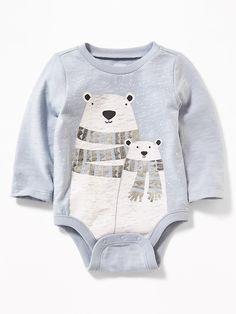Graphic Slub-Knit Bodysuit for Baby