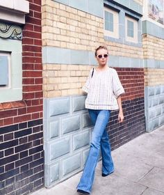 Stylist Martha Ward wearing Kirei. Bell Bottom Jeans, Stylists, Chic, Instagram Posts, How To Wear, Pants, Clothes, Style, Fashion