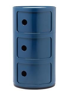Componibili Rond 3 Tiroirs Bleu Kartell Tiroir Kartell Componibili