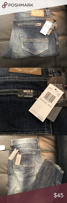 Buffalo Jeans Max X Super Skinny 33x30 Brand New New with tags Buffalo men's jeans 33x30 $109 super skinny Buffalo David Bitton Jeans Skinny