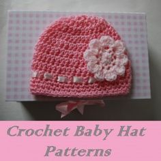 Easy Basic Baby Beanie Pattern can be dressed up and finished off to give individual looks - Great top seller at Craft Fairs!