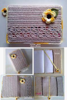 Tecendo Artes em Crochet: Capas para agendas e Cadernos