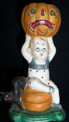 German Halloween porcelain Candy Container