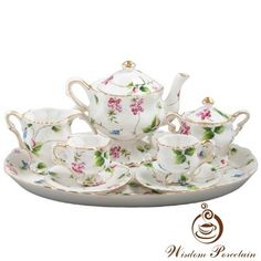 New fashional bone china tea set_Wisdom Porcelain