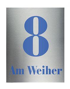 Hausnummer aus Edelstahl