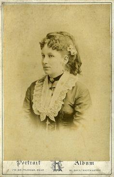 Barones de Coninck de Meerckern. Kabinet albumine foto (1872) gemaakt door Charles Reutlinger in Parijs. Verzameling Wilfried Vandevelde.