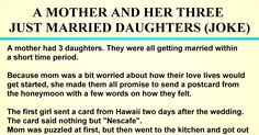 """The second girl sent the card from Vermont a week after the wedding, and the card read: """"Benson & Hedges"""". Mom now knew to go straight to her husband's cigarettes, and Just Married, Getting Married, Benson & Hedges, Card Reading, Love Life, Vermont, Get Started, No Worries, Jokes"""