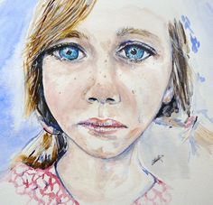 Don't Cry - Out of Darkness: Diane Beatty People Figures, Cry Out, Sad Eyes, Dont Cry, Watercolor Print, Darkness, Crying, My Arts, Portrait