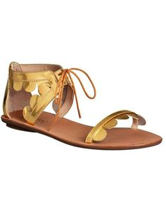 Lovely gold sandals from piperlime
