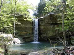 This is Jackson Falls - it's only 2 hours west of Evansville, in the Shawnee National Forest!