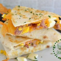 Ham and Cheese Breakfast Quesadillas - Page 2 of 2 - Little Dairy On the Prairie