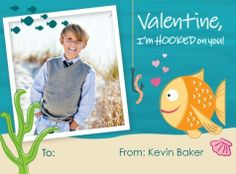 Fish theme Valentine Card
