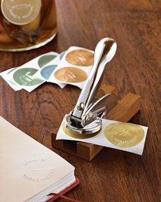 Round foil Embosser labels , i love this, you can personalized your own tag for ex: Made from scratch